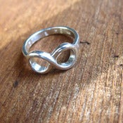 Image of Custom Engraving Infinity Silver Ring - Handmade sterling silver ring.