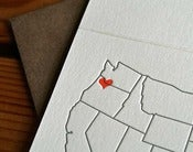 Image of heart over portland