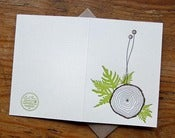 Image of tree letterpress Card