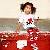 Image of Leg Warmers - Red w/White Hearts - Valentine's Day - Infant Toddler Size