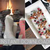 Image of Cozy {Christmas} Morning Brunch Party Printables