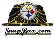 Image of Vintage Deadstock Pittsburgh Steelers Starter Collision Snapback Hat Cap