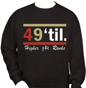 Image of 49&amp;#x27;til. Crewneck Sweater (Higher Ranks)