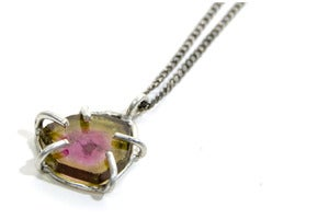 Image of Slice Necklace - Pink Tourmaline