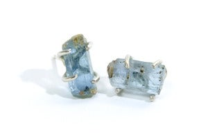 Image of Rough Aquamarine Earring