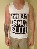 Image of SCUM SLUT SINGLET - WHITE