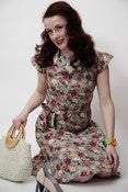 Image of 1940s inspired shirt waist dress