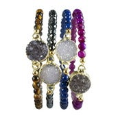 Image of Beaded Druzy Bracelet