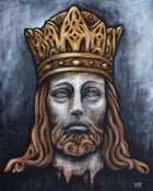Image of Jesus with Crown - Framed