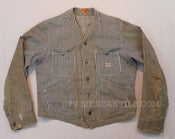 Image of Vintage 1940s CAN'T BUST'EM Union Made Collarless Engineer Jacket 42 M / L 
