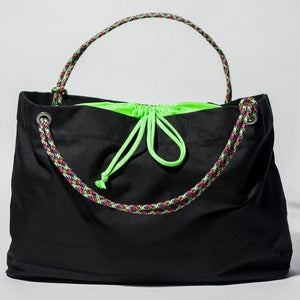 Image of Scotty - Karen Tote - Black with Neon Green