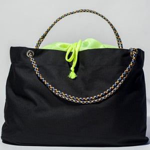 Image of Scotty - Karen Tote - Black with Fluorescent Yellow
