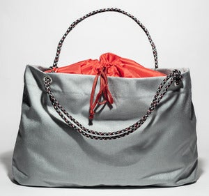 Image of Scotty - Karen Tote - Grey with Red