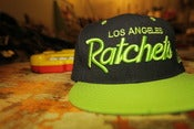 Image of LA RATCHETS SNAPBACK (neon green)