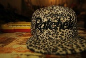 Image of LA RATCHETS SNAPBACK (leopard print) 