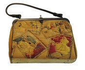 Image of Vintage Quilted Velvet Kelly Bag