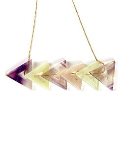 Image of Nallik &gt; Multi Triangle Necklace