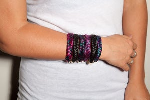 Image of Hand Dyed & Braided Horsehair Bracelet