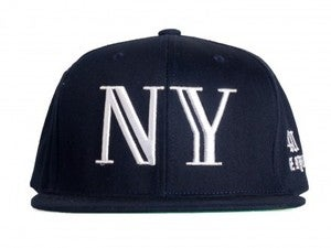 Image of 40 oz Nyc Balmain Inspired Snapback Navy