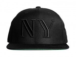 Image of 40 oz Nyc Balmain Inspired Snapback Black on Black