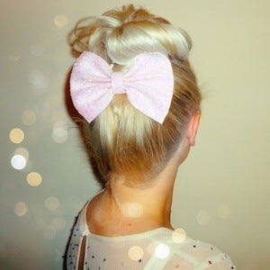 Image of Pastel Glitter Bow Hair Clip (Available in 7 Different Colours)