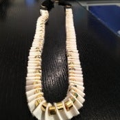 Image of 3.1 Phillip Lim Cream Accordion Necklace