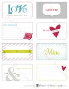 Image of 8 Valentine's Greetings Printable