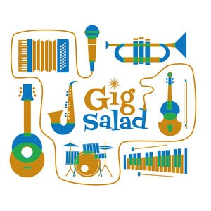 Image of Gig Salad Instruments Tee (White)