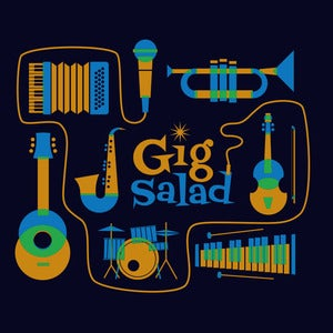 Image of Gig Salad Instruments Tee (Navy)