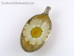 Image of Silver Plated Spoon with Chrysanthemum 