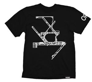 Image of ORD: Chicago O'Hare Shoulder Code T-Shirt