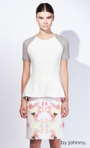 Image of The Fall Structured Sweater - Ivory Marle