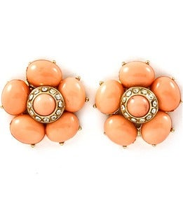 Image of Formica Crystal Flower Earrings
