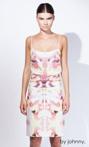 Image of Petal Spray Shoe String Cami - Peony Pink