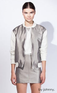 Image of Metal Bomber - Silver Smoke Ivory