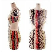 Image of Side less Colorful Snake Skin Dress 