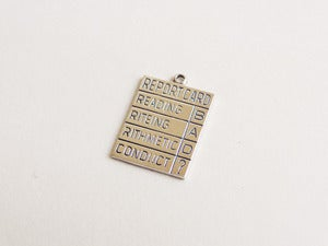 Image of Sterling Silver Report Card Pendant