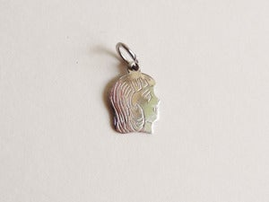 Image of Sterling Silver Girl Head Pendant