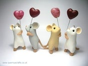 Image of Mouse with Glass Heart Balloon - Special Edition