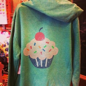 Image of Zip Hoodie with Cupcake