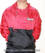 "Image of ""Los Chingones"" Red n' Black Windbreaker"