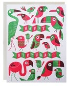 Image of Tiki Bird Birthday Card