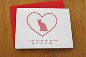 Image of Kitty Card - Love You Almost as Much