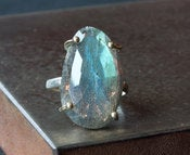 Image of Labradorite Ring in 14kt Gold and Sterling Silver
