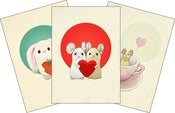 Image of Set of 3 Valentine Giclée Prints
