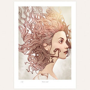 Image of 'Shiny hair' print by Ëlodie