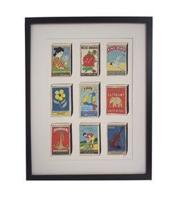 Image of **NEW** Limited Edition Hand Decorated Matchbox Print
