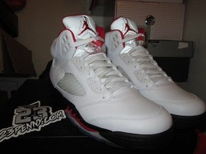 Image of Air Jordan V (5) Retro &quot;Fire Red&quot; 2013 