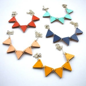 Image of Colour Block Bunting Necklace - Choose from 5 Colours