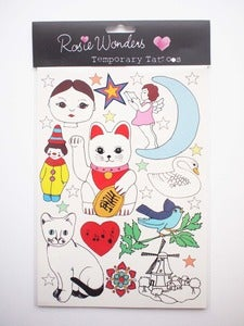 Image of **NEW** Cat Temporary Tattoos